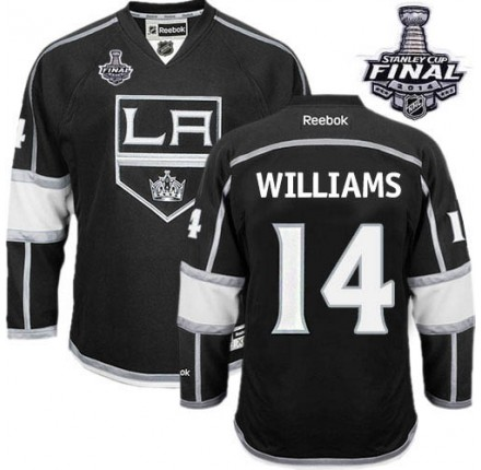 NHL Justin Williams Los Angeles Kings Youth Authentic Home 2014 Stanley Cup Reebok Jersey - Black